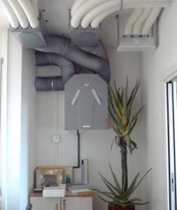 ricambio aria installata
